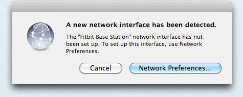 Screenshot of Mac Network Dialog
