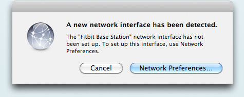 Screenshot of Mac Network Dialog